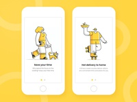 Onboarding for Food delivery app