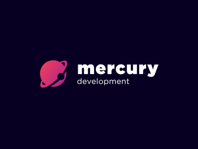 Mercury Development vector gradient logo space branding logodesign logotype planet logo