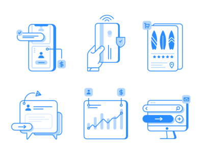 Icons for Kitesurfing app surf technology illustration interface icondesign iconset icons pack icons