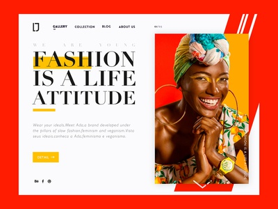 Fashion is a life attitude color matching typesetting format collision color women web fashion ui