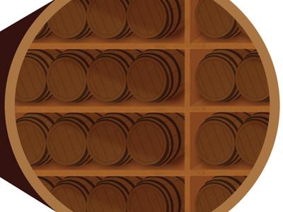 Barrel Storage illustration barrel bourbon whiskey
