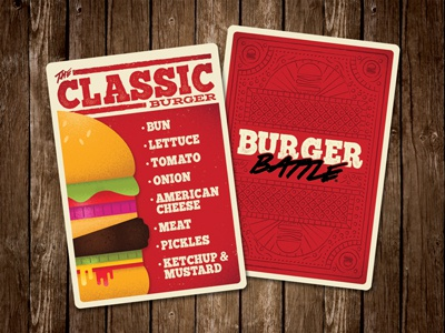 Burger Card design food game gaming tabletop burger card game