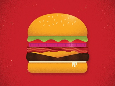 The Porker Burger illustration bacon food gaming game tabletop burger card game