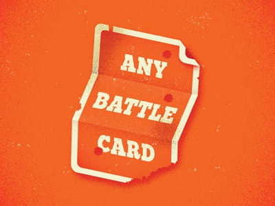 Destroy playing card battlecard card design food game gaming tabletop burger card game