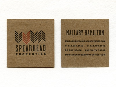Spearhead business cards