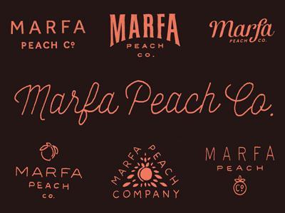 Marfa peach co. dribbble