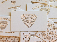 Love, The Nelsons - Letterpress Business Cards