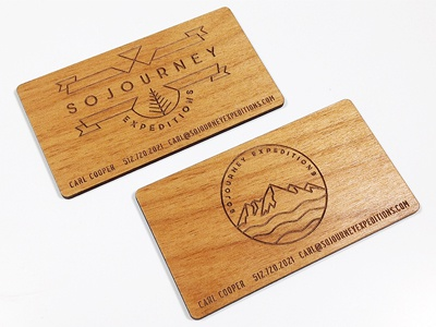 Sojourney Expeditions business cards