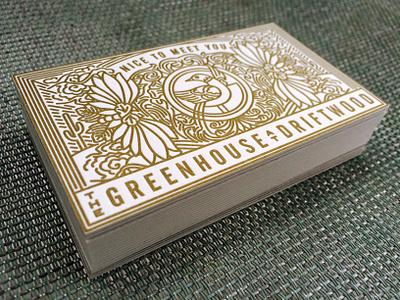 Greenhouse letterpress business cards