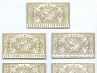 Greenhouse letterpress card set