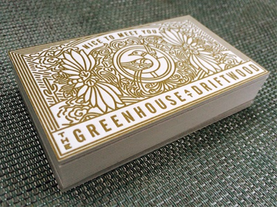 Greenhouse letterpress business cards by Keith Davis Young - Dribbble