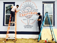 Craftsman bar signage