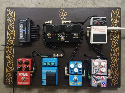 julia lucille guitar pedal board by keith davis young dribbble dribbble. Black Bedroom Furniture Sets. Home Design Ideas