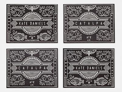 Catalpa letterpress business cards