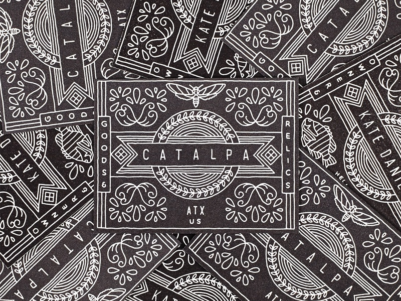 Catalpa letterpress business cards
