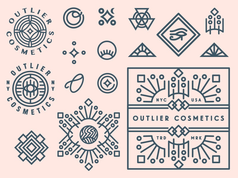 Outlier monograms and badges