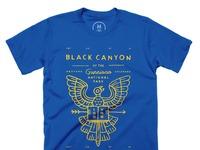 Black canyon   100  cotton   men   tee   royal