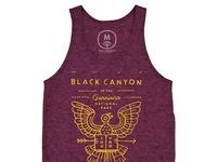 Black canyon   tri blend   unisex   tank   tri cranberry