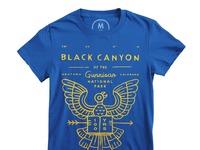 Black canyon   100  cotton   women   tee   royal