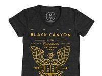 Black canyon   tri blend   women   tee   vintage black