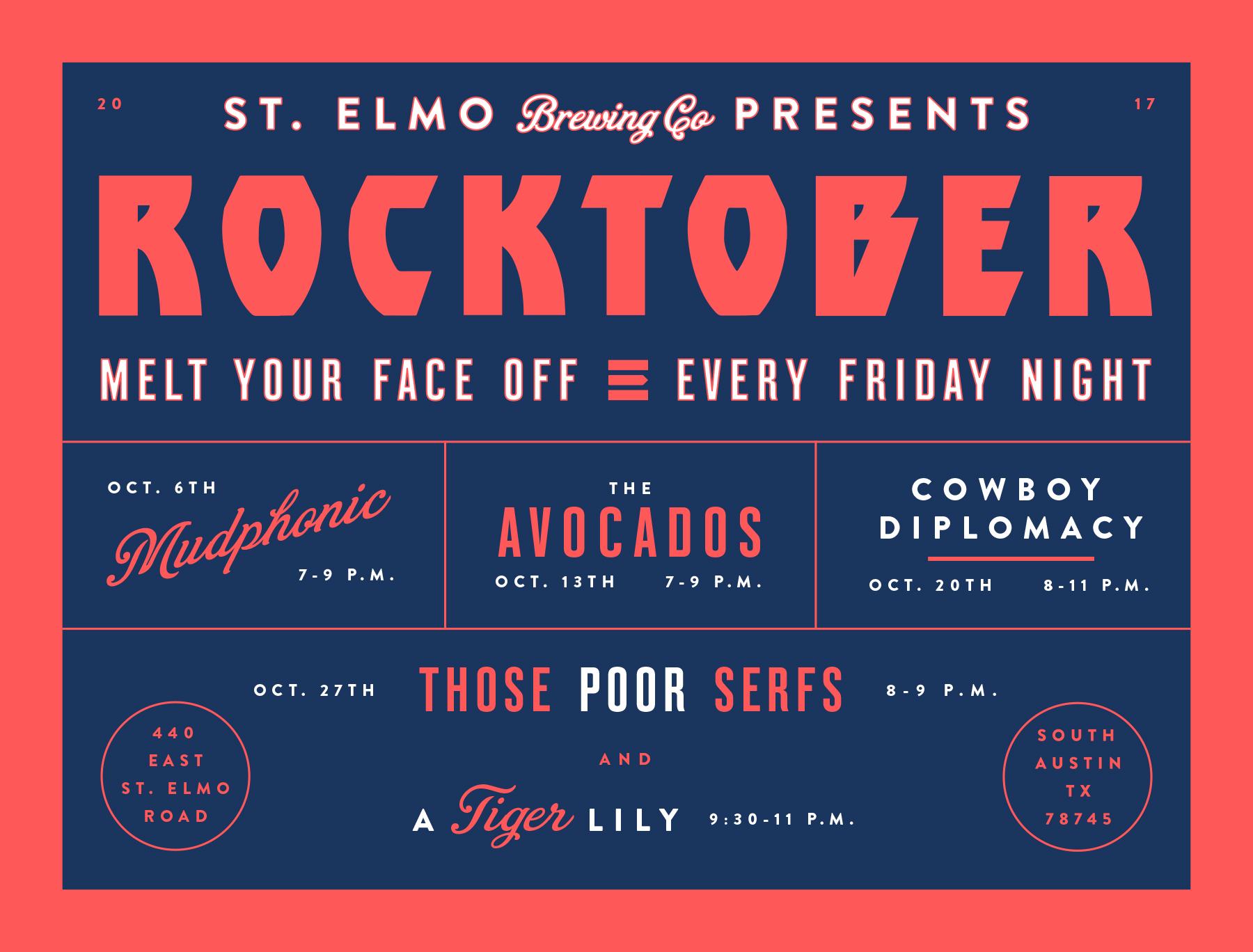 St. elmo rocktober poster