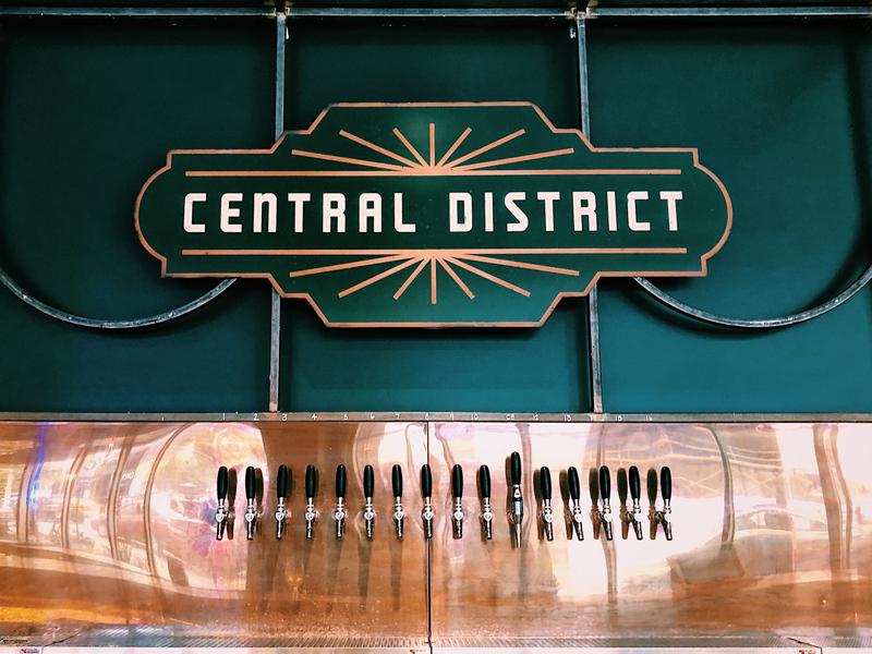 Central District bar signage