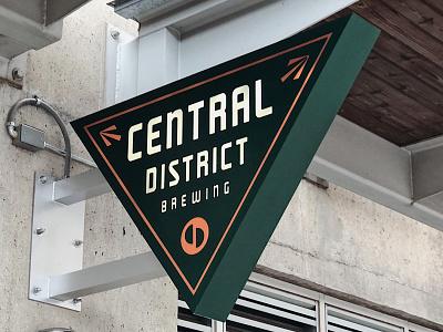 Central District exterior signage