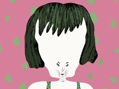 Pumpkin head pattern blog illustration article illustration characterdesign character pink colorful editorial illustration