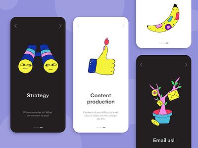 Creative studio illustrations email strategy design studio creative studio wierd colorful web illustration illustration