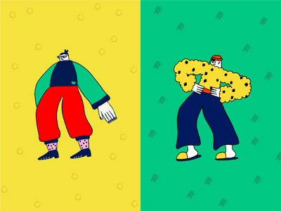 Character sketches pattern texture ui colorful character design character illustration