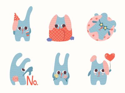 "Stickers ""Sad Bunny"""