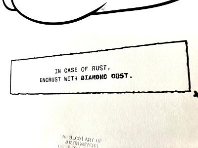 Diamond Dust 13x19 line art sketch procreate illustrator illustration handmade dark clean vector typography poster