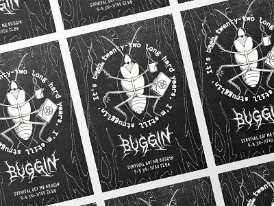 Survival Got Me Buggin' ipad pro procreate illustrator vector typography poster mma bjj jiu-jitsu