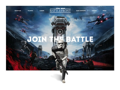 Star Wars Battlefront | EA Sports interactive light web  design website sony microsoft xboxone ps4 online gaming ea sports gaming game clean