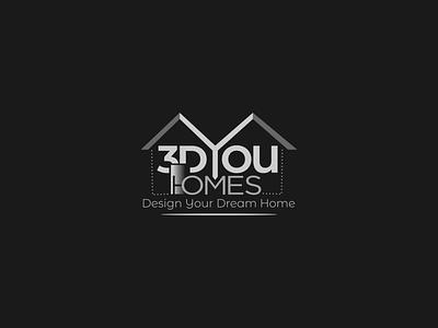 3D YOU HOMES LOGO DESIGN branding graphic design brand identity logo design design