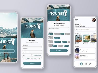 TouristI Mobile UI Design mobile ui design ui design ui