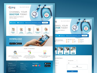 Channel Your Doctor web design ecommerce doctor booking booking app channel doctor