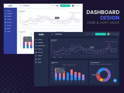Dashboard Design dashboard design drak ui dark mode dashboard