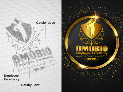 Gatsby Theme Logo design for employee award ceremony sketches award show gatsby logo design