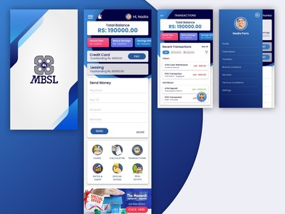Bank App Mobile UI Design