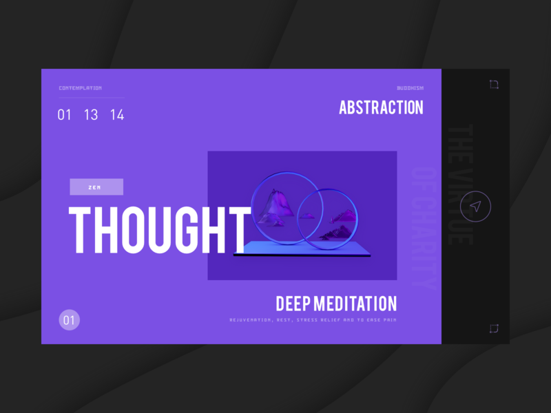 thought web card web illustration