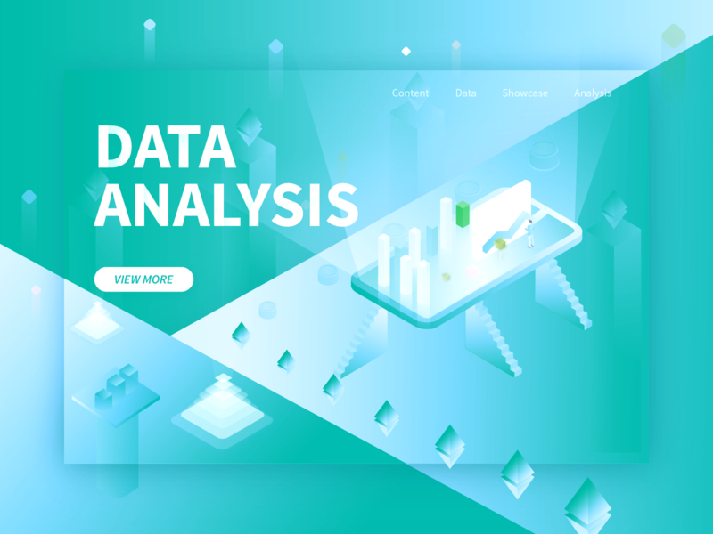 Data web presentation green illustration web design data analysis data ui