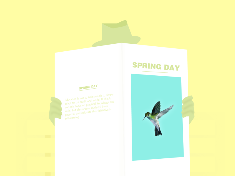Read Newspaper design illustration
