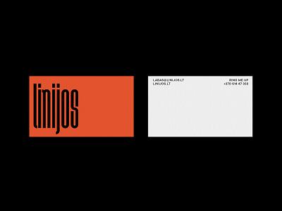 linijos mnimalist business card design design agency design studio brutalism businesscard logotype typography logo branding brand identity adobe contemporary graphic design conceptual design conceptual