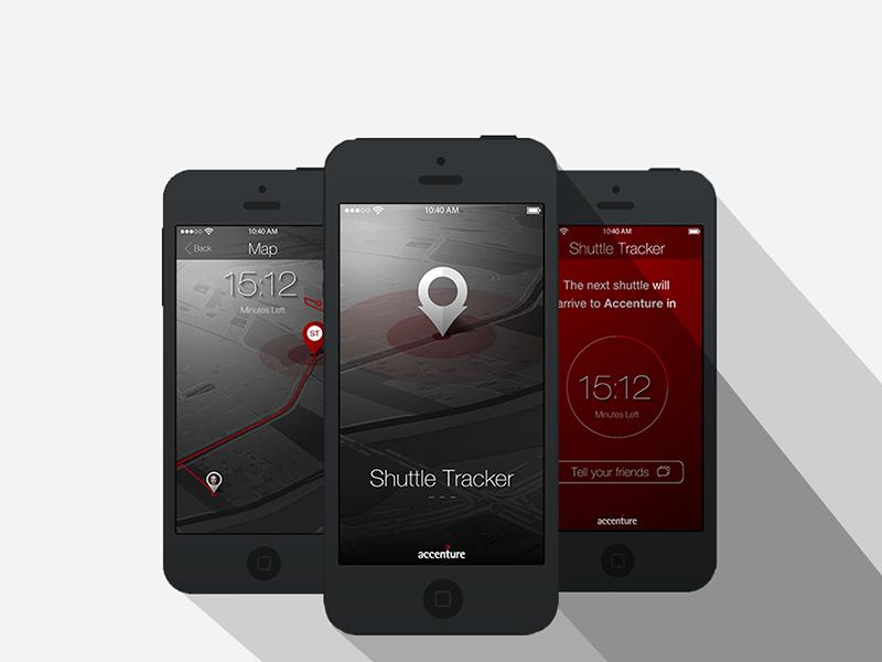 Shuttle Tracker App shuttle tracker mobile maps timer accenture prototype clock