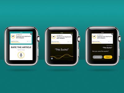 Siri Rating Integration apple watch bonzai intranet article siri voice rate interaction sharepoint