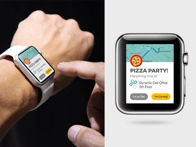 Pizza Party Notification food alert notification party sharepoint bonzai intranet maps