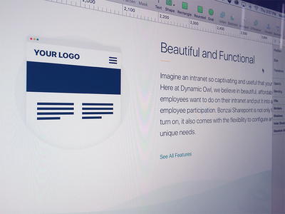 Benefits Page features intranet bonzai wip beautiful icon teal sketch design ui website
