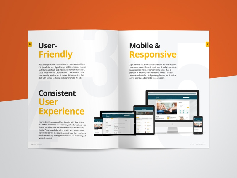 Case Study Design intranet responsive sharepoint magazine infographic industry energy editorial bonzai
