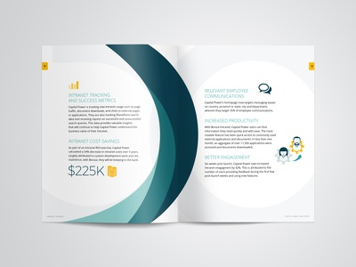 Case Study Design iconography office 365 intranet responsive sharepoint magazine infographic industry energy editorial bonzai